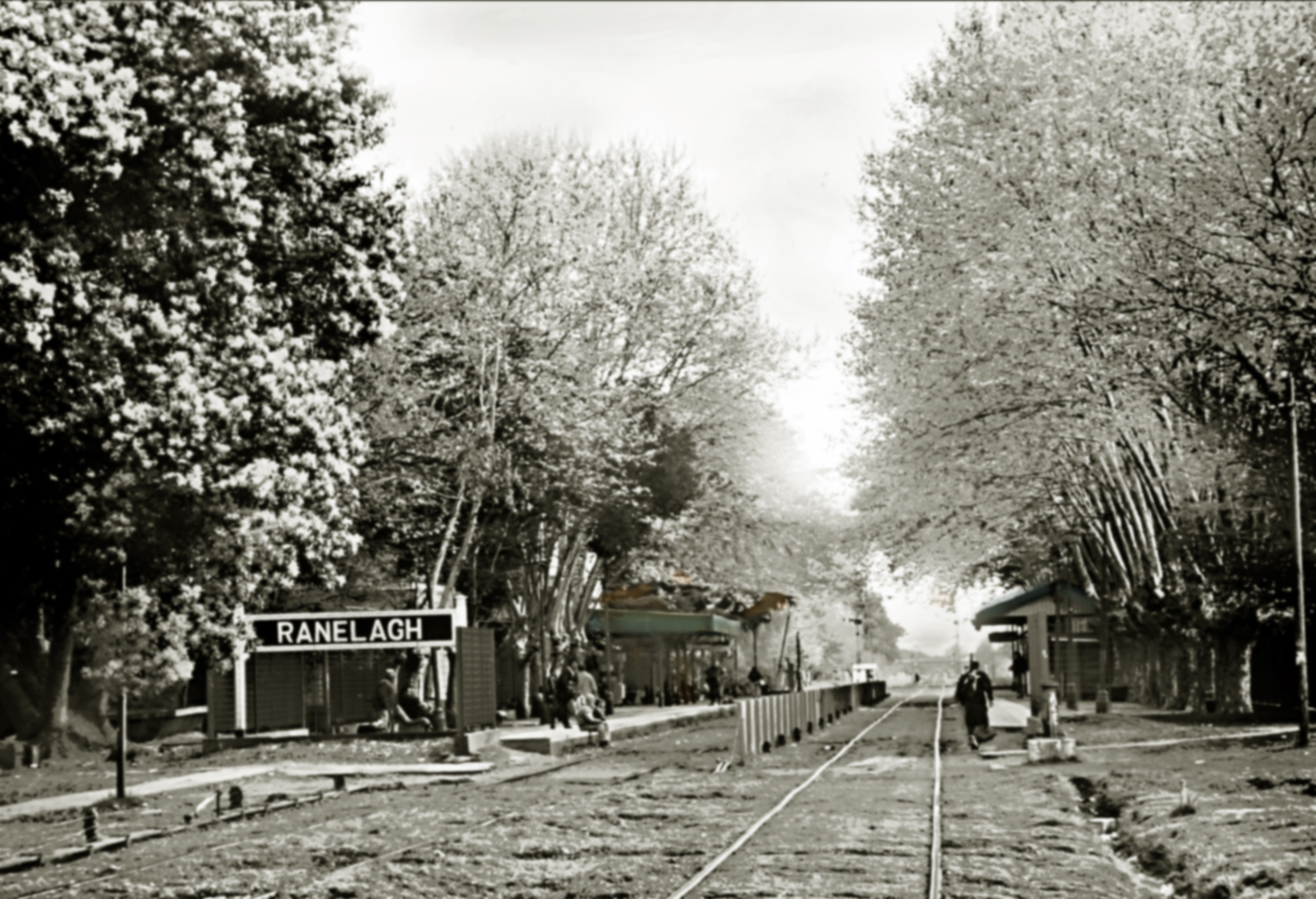 Vista de la antigua estacion de Ranelagh