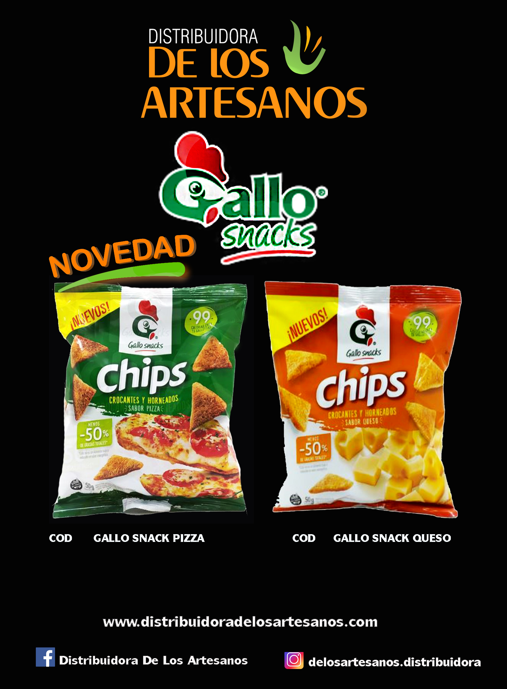 GALLO SNACK QUESO / PIZZA LIBRES DE GLUTEN SIN TACC