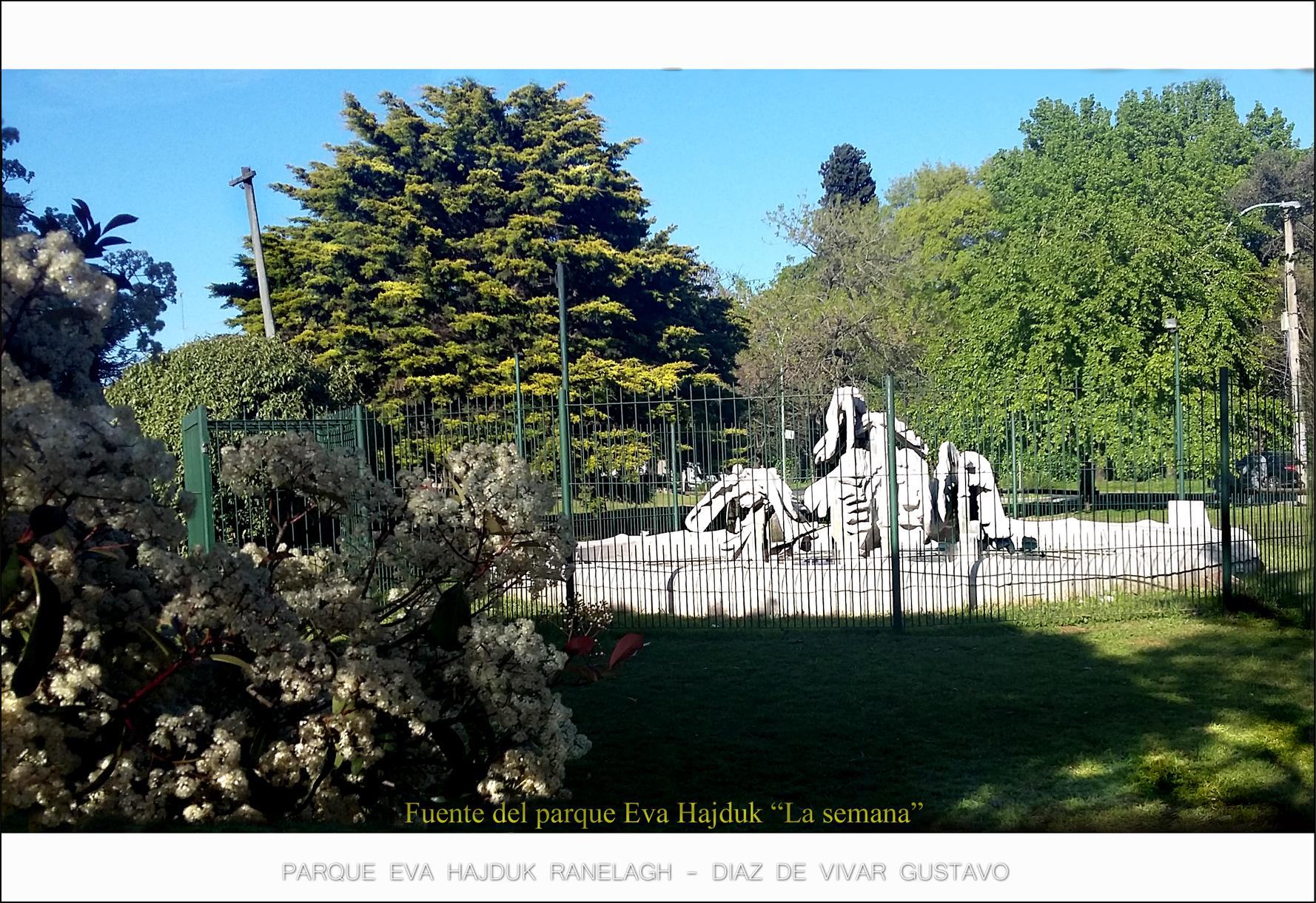 Fuente del parque Eva Hajduk la semana medio - Diaz De Vivar Gustavo
