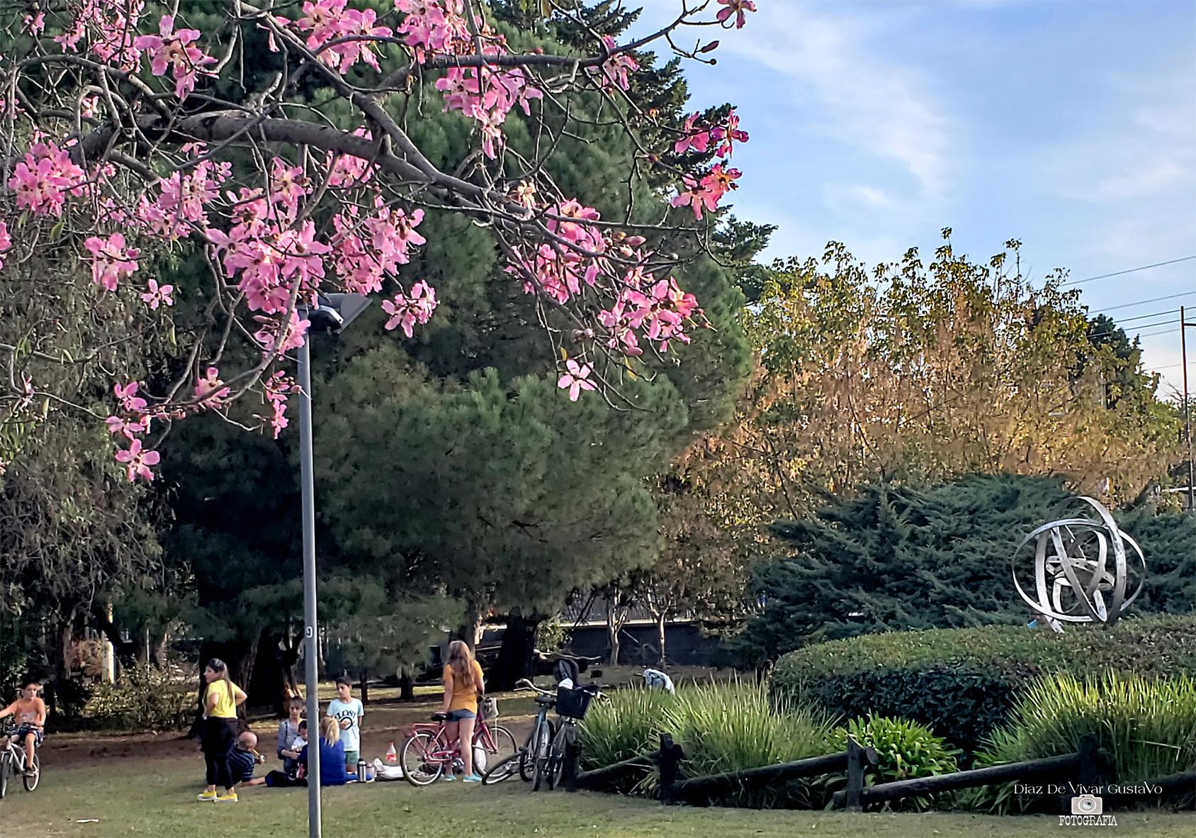 familias en el parque Eva Hajduk