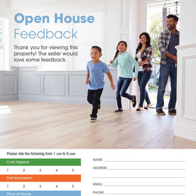 Open House Feedback