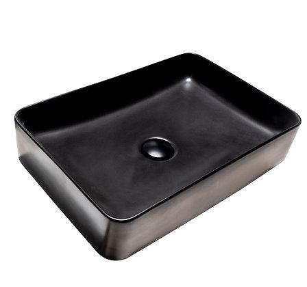 Lavamanos sobreponer rectangular negro mate