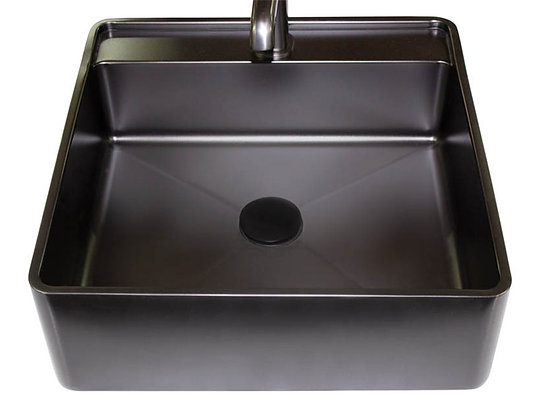 Lavamanos en acero negro