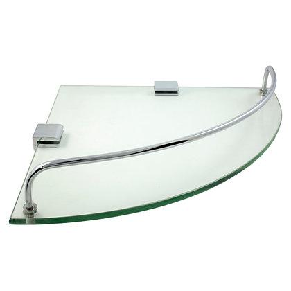 Repisa esquinera de vidrio