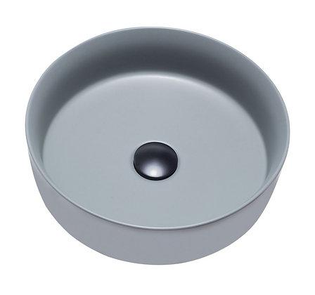 Lavamanos redondo, gris mate