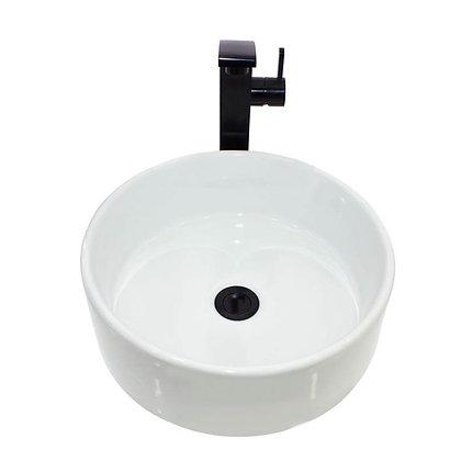Lavamanos redondo de sobreponer blanco