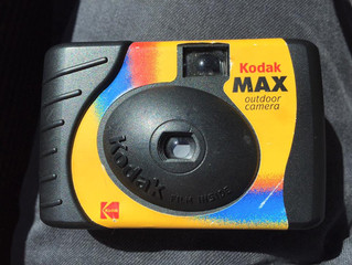 Kodak Max disposable camera developed 16 years after expiration date.