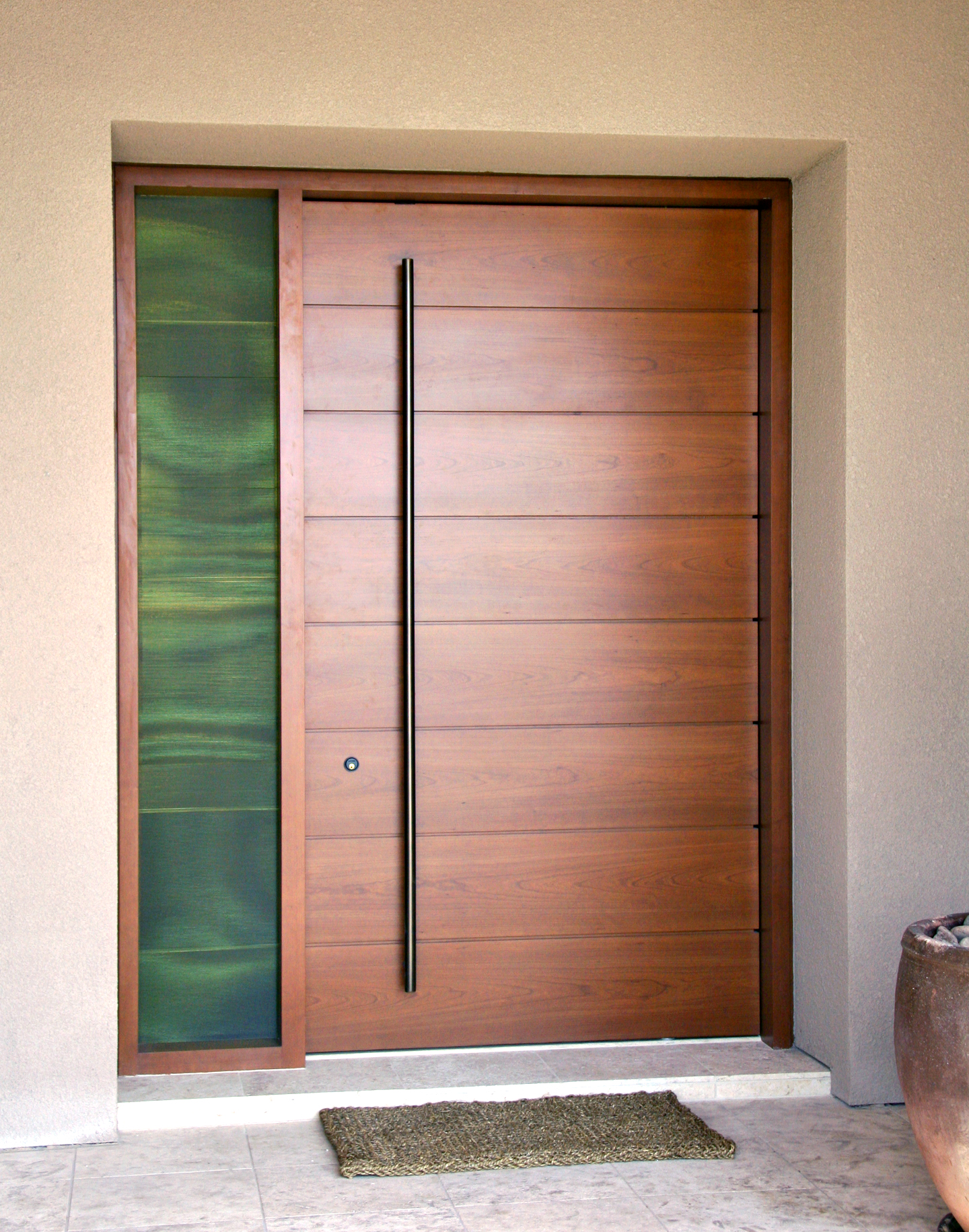 Cherry entry door