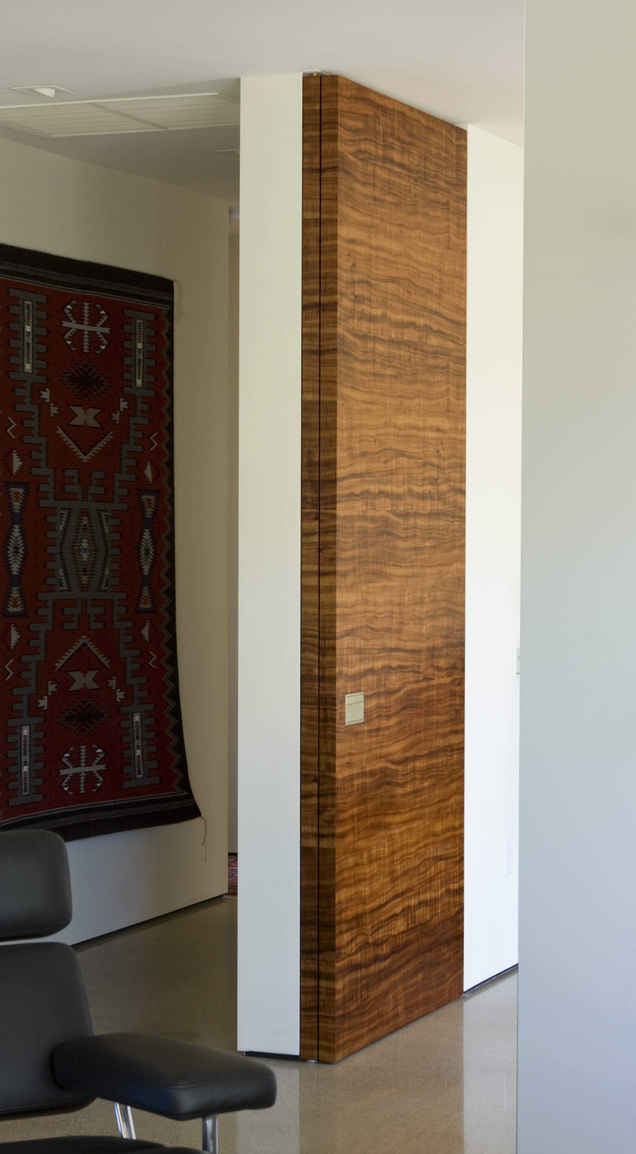 Koa Veneer Door - Closed