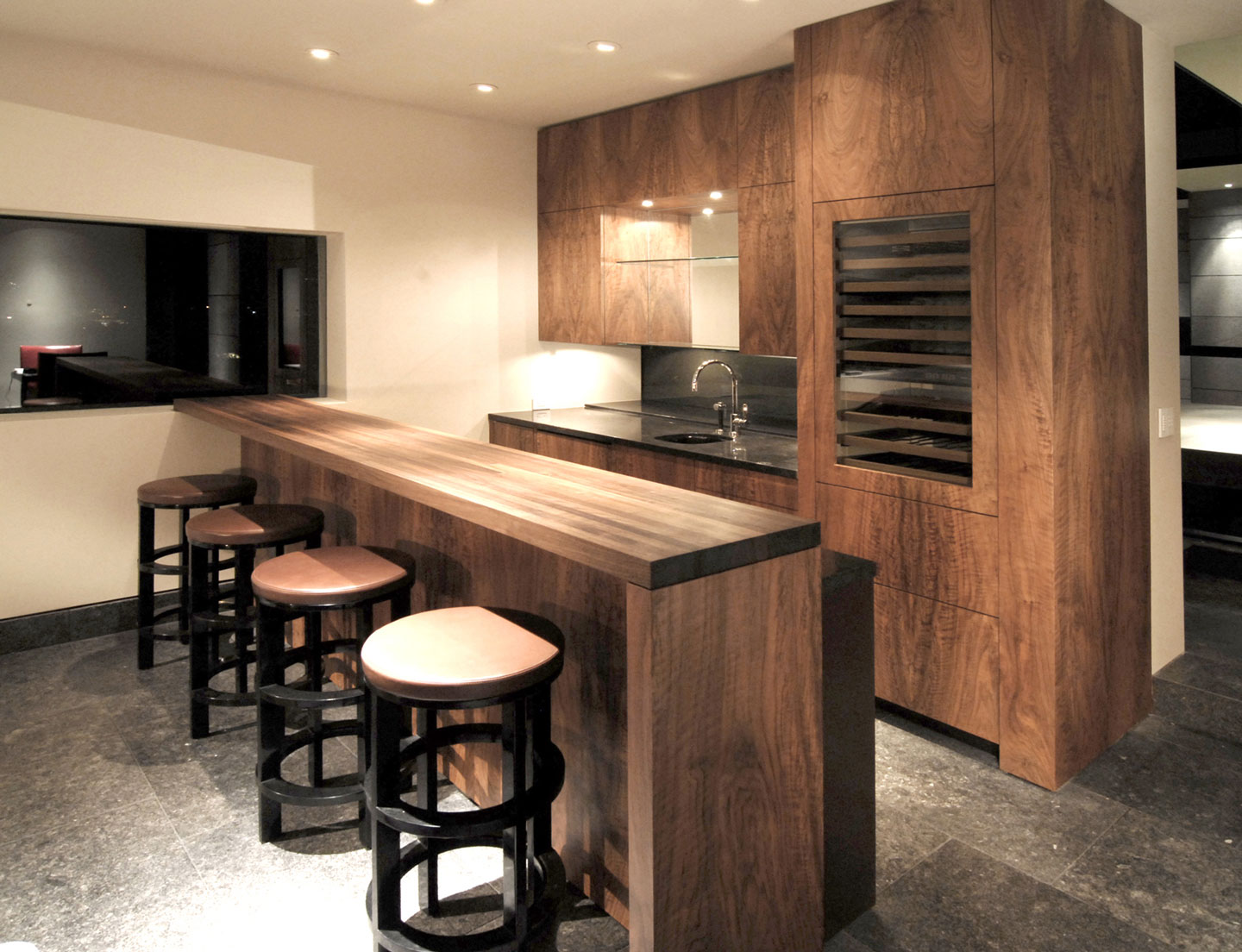 French Walnut Wet Bar