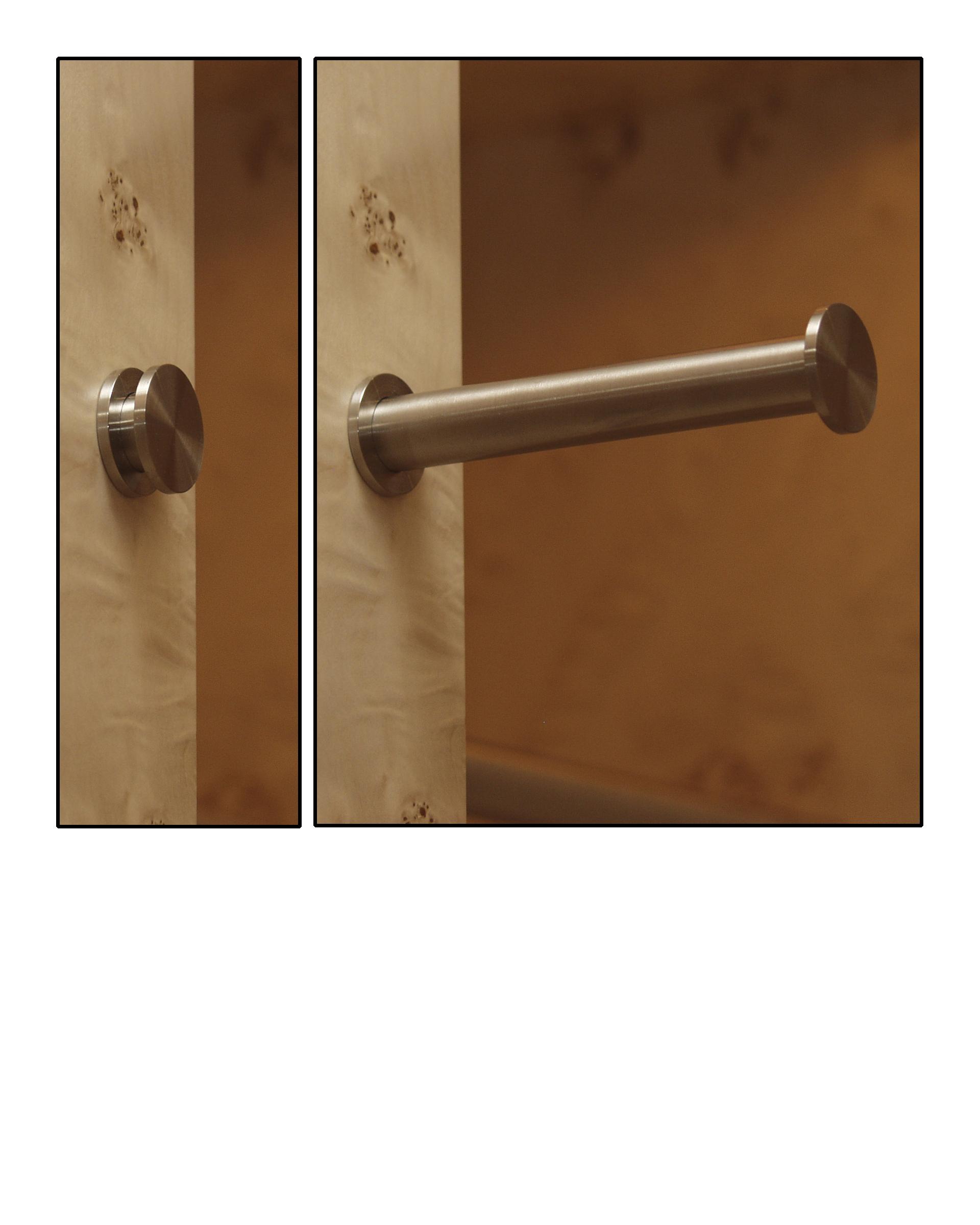 Satin Nickel Closet Rod Pullout