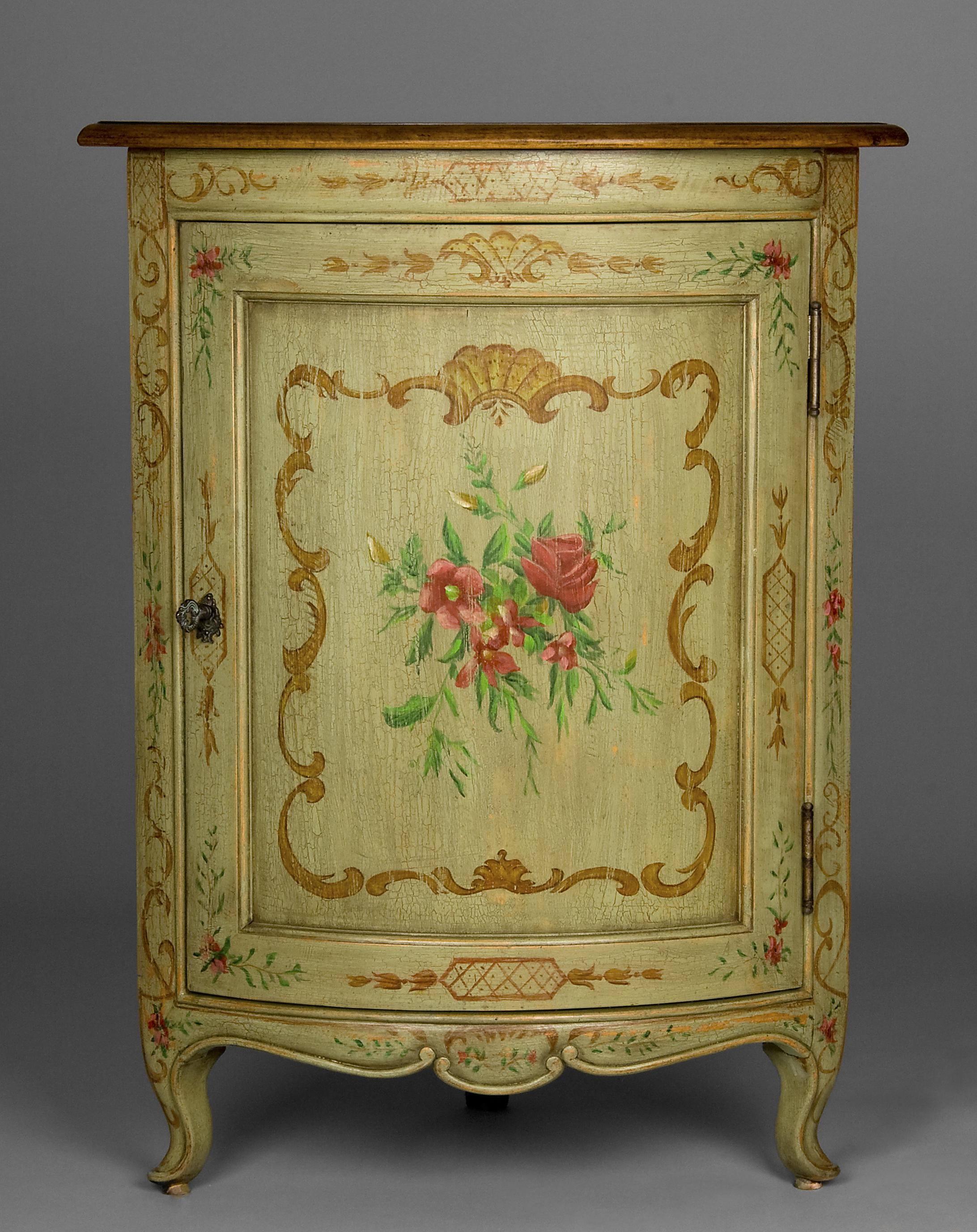 Painted Corner Cabinet