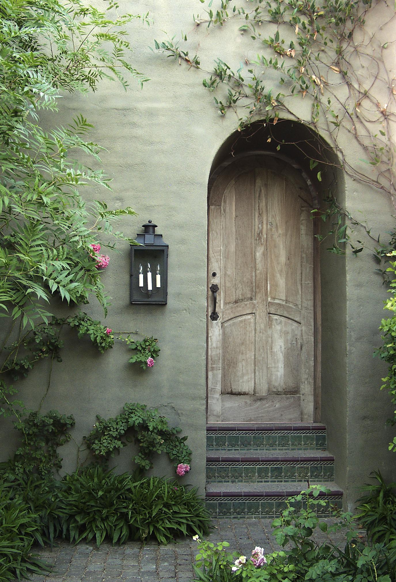 Antiqued Solid Mesquite Door