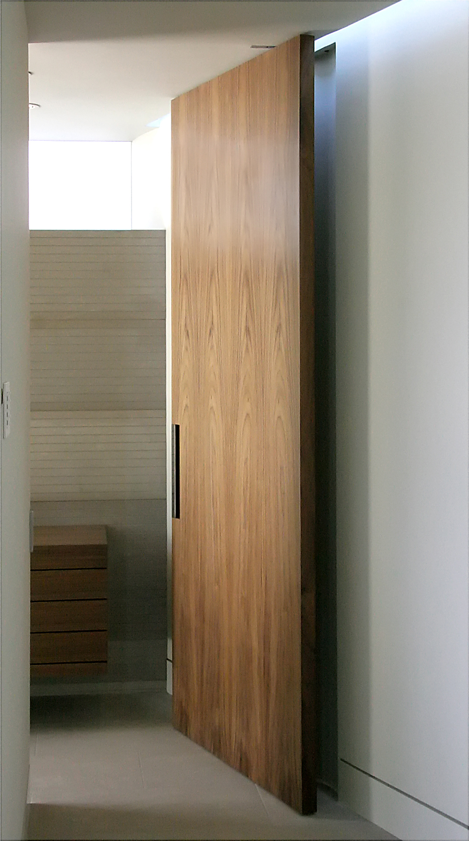 Walnut Pivot Door