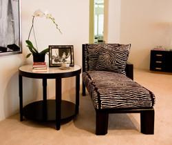 Ebonized Walnut Chaise