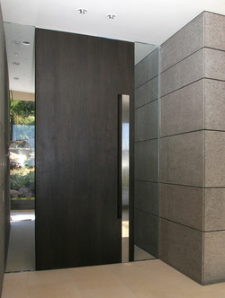 Ebonzied Walnut Entry Door