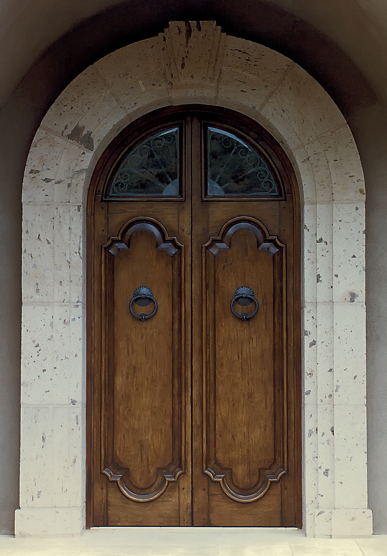 Antiqued Pair of Doors