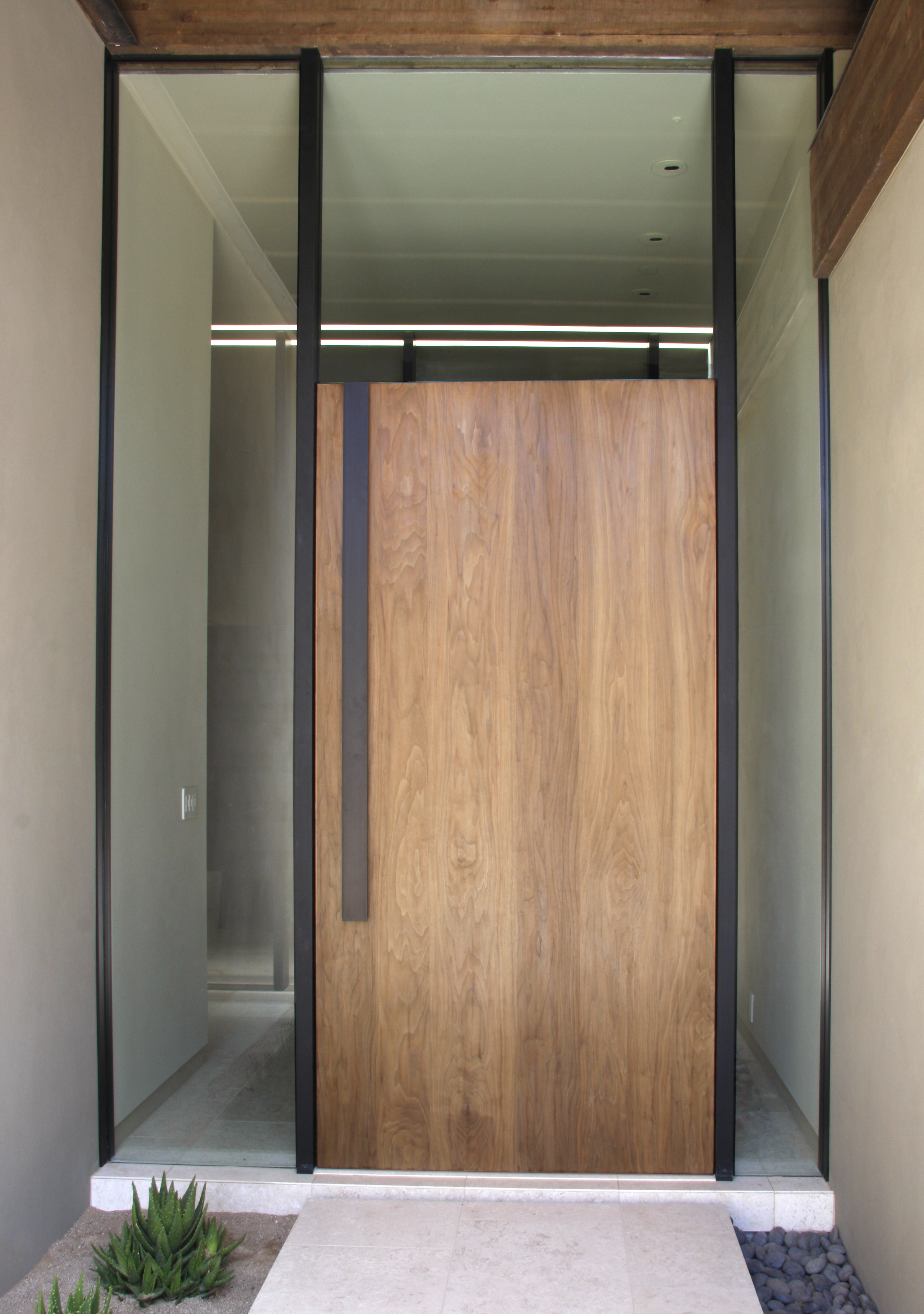 Walnut Entry Door - Closed