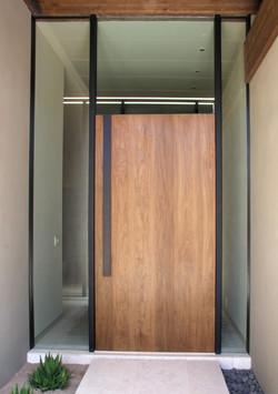 Walnut Entry Door - Closed