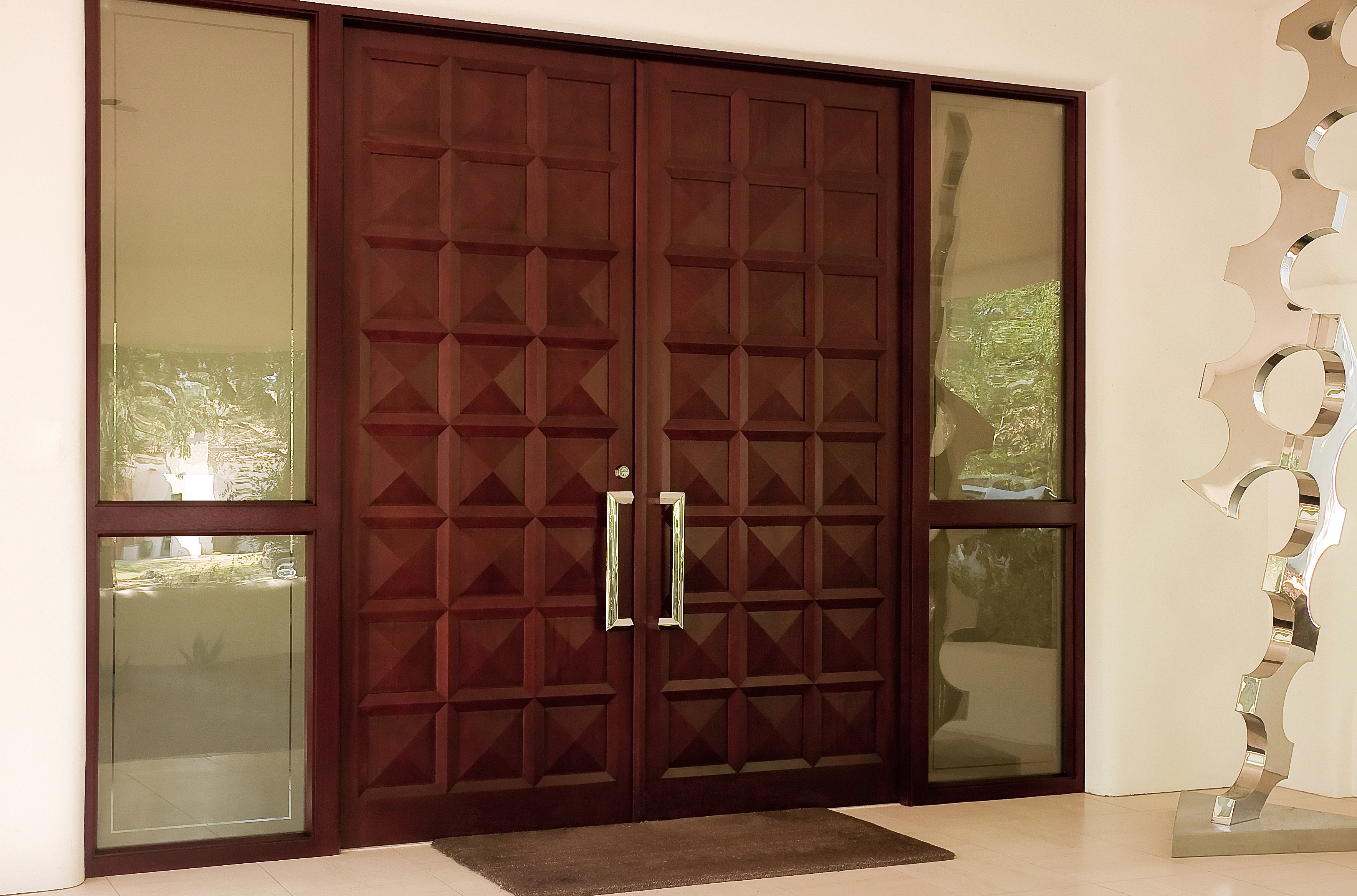 Mahogany Entry Doors