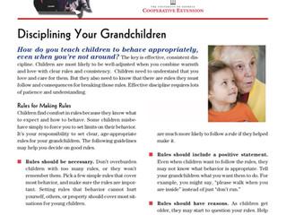 Disciplining Your Grandchildren: Grandparents Raising Grandchildren