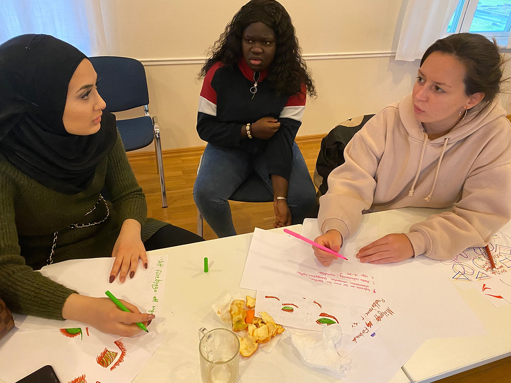 Yosra at a workshop on policy recommendations that were later presented to Swedish national decision-makers