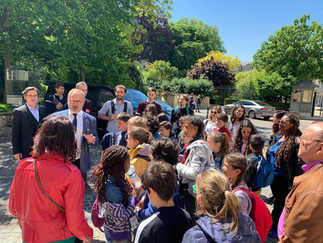 Le Conseil municipal enfants en visite au Sénat