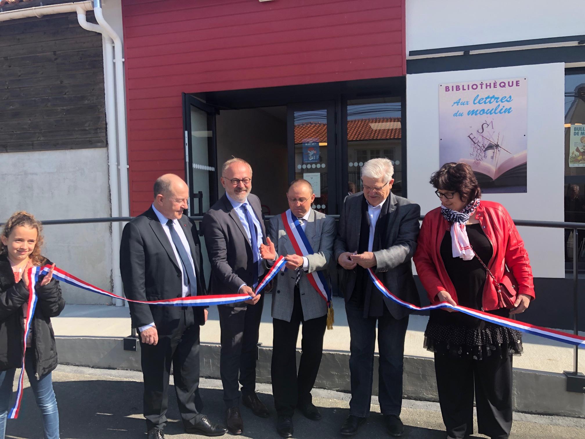 Inauguration bibliothèque à la Boissière