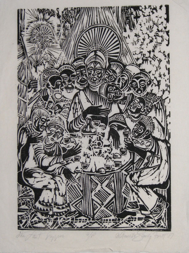 Annette-Gandy-Fortt_Last-Supper_Linocut_