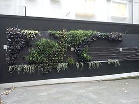 green wall in Finsbury Circus