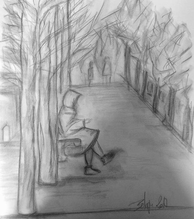 Sur les bancs du jardin du Palais-R