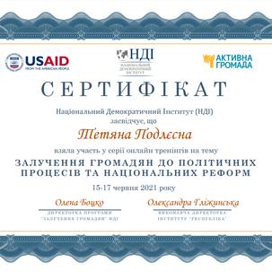 Команда CFSR висловлює вдячність Національному Демократичному Інституту, в рамках програми «Відповідальна та підзвітна політика України», за фінансової підтримки Агентства США з Міжнародного розвитку (USAID), а також організаторам та спікерам за організацію та проведення даного заходу.