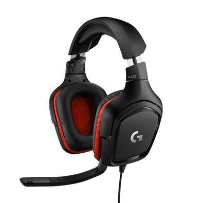 HEADSET GAMER LOGITECH G332 PRETO/VERMELHO