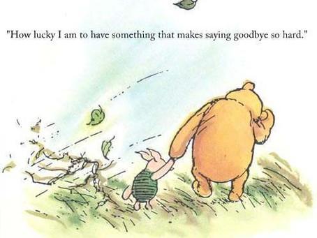 On Leaving and Saying Goodbye