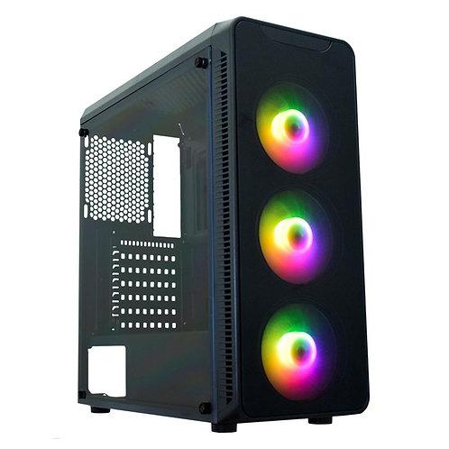 Gabinete Gamer Micro Atx Atx ITX sem Fonte Infinity Polygon Cg-08g8 Preto Kmex