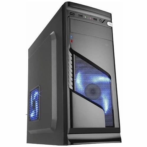 Gabinete Gamer Micro Atx ATX sem Fonte Solid Snake Cg-02r6 Pretoled Azul K-mex