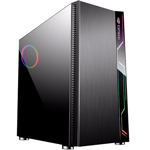 Gabinete ATX sem Fonte Gamer Mt-g400bk Preto C3tech
