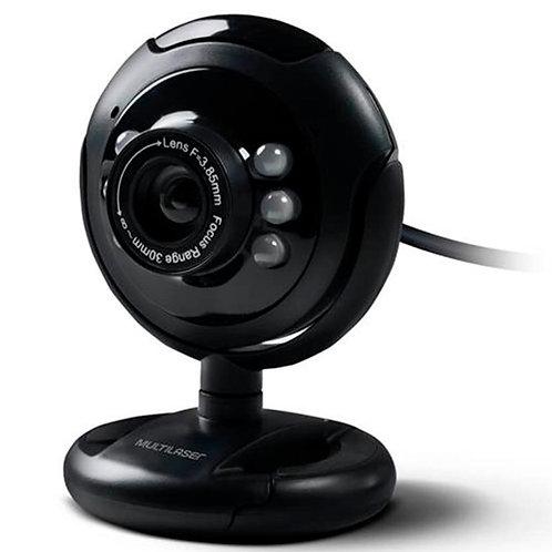 WEB CAM USB Night Vison com Microfone Preto Multilaser