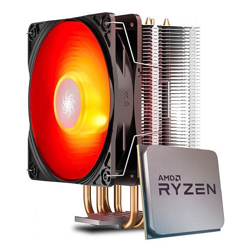 Processador AMD Ryzen 5 5600X 4.6GHz + Cooler DeepCool Gammaxx 400 V2 Red