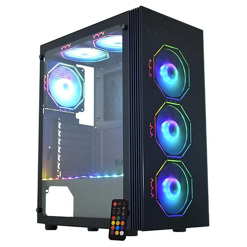 Gabinete Gamer Micro Atx Atx ITX sem Fonte Asgard Polygon Cg-02z5 Kmex