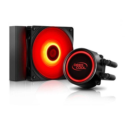 Processador AMD Ryzen 5 5600X 4.6GHz + Water Cooler DeepCool Gammaxx L120T Red