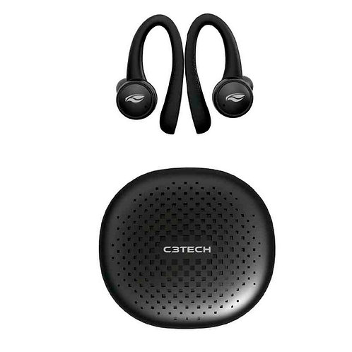 Fone de Ouvido Bluetooth C3Tech Sportybuds - EP-TWS-100BK