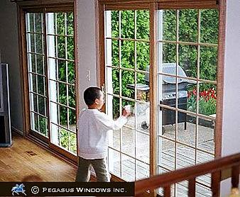 Double patio doors