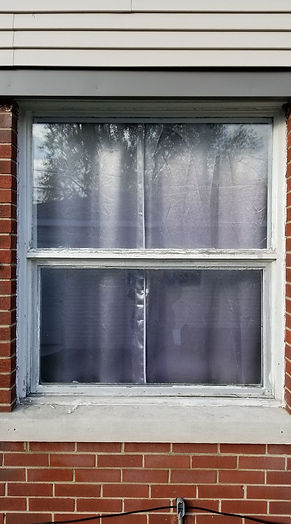 Before double hung windows