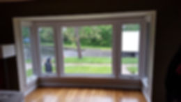 Casement windows with a large picture window