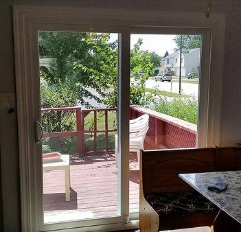 Vinyl patio door