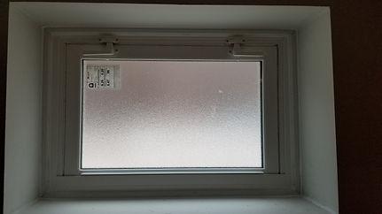 Obscured hopper window