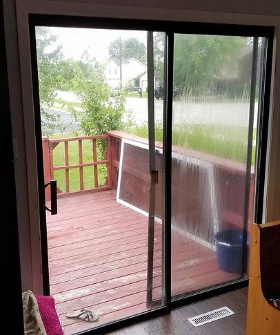 before patio door