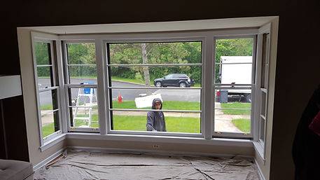 Before casement and picture window