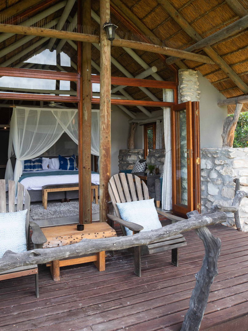 Private deck at Suite
